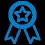 Flage - Icono certificati - Blue